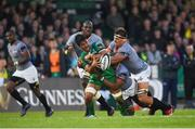 9 September 2017; Jarrad Butler of Connacht is tackled by Andisa Ntsila, centre, and Dries van Schalkwyk of Southern Kings during the Guinness PRO14 Round 2 match between Connacht and Southern Kings at The Sportsground in Galway. Photo by Seb Daly/Sportsfile