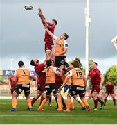 9 September 2017; Sean O'Connor of Munster wins possession in a lineout ahead Reniel Hugo of Cheetahs during the Guinness PRO14 Round 2 match between Munster and Cheetahs at Thomond Park in Limerick. Photo by Diarmuid Greene/Sportsfile