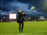 9 September 2017; Galway senior hurler Joe Canning on the pitch at half time during the Guinness PRO14 Round 2 match between Connacht and Southern Kings at The Sportsground in Galway. Photo by Seb Daly/Sportsfile