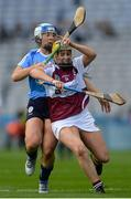 10 September 2017; Denise McGrath of Westmeath in action against Gráinne Free of Dublin during the Liberty Insurance All-Ireland Premier Junior Camogie Championship Final match between Dublin and Westmeath at Croke Park in Dublin. Photo by Piaras Ó Mídheach/Sportsfile