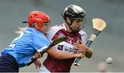 10 September 2017; Pamela Greville of Westmeath in action against Ciara Buchanan of Dublin during the Liberty Insurance All-Ireland Premier Junior Camogie Championship Final match between Dublin and Westmeath at Croke Park in Dublin. Photo by Piaras Ó Mídheach/Sportsfile