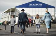 10 September 2017; The Gilbourne family, pictured from left, Patrick, Raymond, Margo, and Gillian, from Millstreet, Co Cork, arrive at the Longines Irish Champions Weekend 2017 at The Curragh Racecourse in Co Kildare. Photo by Cody Glenn/Sportsfile