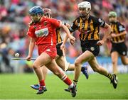 10 September 2017; Orla Cronin of Cork in action against Catherine Foley of Kilkenny during the Liberty Insurance All-Ireland Senior Camogie Final match between Cork and Kilkenny at Croke Park in Dublin. Photo by Matt Browne/Sportsfile