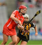 10 September 2017; Chloe Sigerson of Cork in action against Catherine Foley of Kilkenny during the Liberty Insurance All-Ireland Senior Camogie Final match between Cork and Kilkenny at Croke Park in Dublin. Photo by Matt Browne/Sportsfile