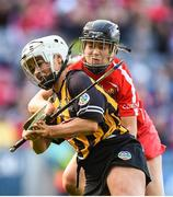 10 September 2017; Shelly Farrell of Kilkenny in action against Laura Treacy of Cork during the Liberty Insurance All-Ireland Senior Camogie Final match between Cork and Kilkenny at Croke Park in Dublin. Photo by Matt Browne/Sportsfile