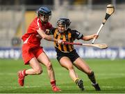 10 September 2017; Katie Power of Kilkenny in action against Pamela Mackey of Cork during the Liberty Insurance All-Ireland Senior Camogie Final match between Cork and Kilkenny at Croke Park in Dublin. Photo by Matt Browne/Sportsfile