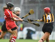 10 September 2017; Julia White of Cork scores the winning point in injury time during the Liberty Insurance All-Ireland Senior Camogie Final match between Cork and Kilkenny at Croke Park in Dublin. Photo by Matt Browne/Sportsfile