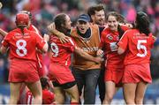 10 September 2017; Cork manager Paudie Murray celebrates with his players after the Liberty Insurance All-Ireland Senior Camogie Final match between Cork and Kilkenny at Croke Park in Dublin. Photo by Matt Browne/Sportsfile