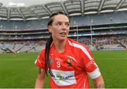 10 September 2017; Ashling Thompson of Cork celebrates after the Liberty Insurance All-Ireland Senior Camogie Final match between Cork and Kilkenny at Croke Park in Dublin. Photo by Piaras Ó Mídheach/Sportsfile