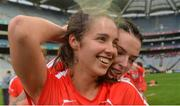 10 September 2017; Cork's Julia White, front, who scored the winning point, and team-mate Ashling Thompson celebrate after the Liberty Insurance All-Ireland Senior Camogie Final match between Cork and Kilkenny at Croke Park in Dublin. Photo by Piaras Ó Mídheach/Sportsfile