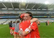 10 September 2017; Leanne O'Sullivan, left, and Ashling Thompson of Cork celebrate after the Liberty Insurance All-Ireland Senior Camogie Final match between Cork and Kilkenny at Croke Park in Dublin. Photo by Piaras Ó Mídheach/Sportsfile