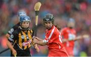 10 September 2017; Julia White of Cork scores the winning score late during the Liberty Insurance All-Ireland Senior Camogie Final match between Cork and Kilkenny at Croke Park in Dublin. Photo by Piaras Ó Mídheach/Sportsfile