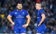 8 September 2017; Cian Healy, left, and Rory O'Loughlin of Leinster during the Guinness PRO14 Round 2 match between Leinster and Cardiff Blues at the RDS Arena in Dublin. Photo by Brendan Moran/Sportsfile