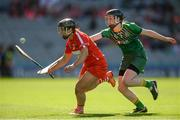10 September 2017; Linda Collins of Cork in action against Emma Coffey of Meath during the Liberty Insurance All-Ireland Intermediate Camogie Championship Final match between Cork and Meath at Croke Park in Dublin. Photo by Piaras Ó Mídheach/Sportsfile