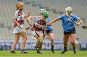 10 September 2017; Julie McLoughlin of Westmeath in action against Sinéad Wylde of Dublin during the Liberty Insurance All-Ireland Premier Junior Camogie Championship Final match between Dublin and Westmeath at Croke Park in Dublin. Photo by Piaras Ó Mídheach/Sportsfile