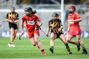 10 September 2017; Pamela Mackey of Cork in action against Katie Power of Kilkenny during the Liberty Insurance All-Ireland Senior Camogie Camogie Final match between Cork and Kilkenny at Croke Park in Dublin. Photo by Matt Browne/Sportsfile