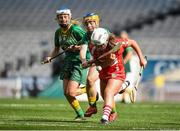 10 September 2017; Lauren Callanan of Cork in action against Caroline Quinn of Meath during the Liberty Insurance All-Ireland Intermediate Camogie Championship Final match between Cork and Meath at Croke Park in Dublin. Photo by Matt Browne/Sportsfile
