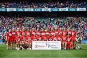 10 September 2017; Cork squad before the Liberty Insurance All-Ireland Intermediate Camogie Championship Final match between Cork and Meath at Croke Park in Dublin. Photo by Matt Browne/Sportsfile