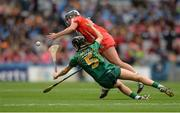 10 September 2017; Katelyn Hickey of Cork in action against Áine Keogh of Meath during the Liberty Insurance All-Ireland Intermediate Camogie Championship Final match between Cork and Meath at Croke Park in Dublin. Photo by Piaras Ó Mídheach/Sportsfile