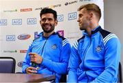 11 September 2017; Cian O'Sullivan, left, and Jonny Cooper of Dublin during a press conference in Parnell Park ahead of their GAA Football All-Ireland Senior Championship Final against Mayo. Photo by Ramsey Cardy/Sportsfile