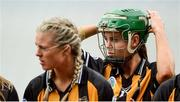 10 September 2017; Collette Dormer of Kilkenny puts on her helmet before the Liberty Insurance All-Ireland Senior Camogie Final match between Cork and Kilkenny at Croke Park in Dublin. Photo by Piaras Ó Mídheach/Sportsfile