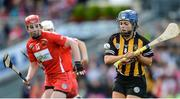 10 September 2017; Meighan Farrell of Kilkenny in action against Niamh McCarthy of Cork during the Liberty Insurance All-Ireland Senior Camogie Final match between Cork and Kilkenny at Croke Park in Dublin. Photo by Piaras Ó Mídheach/Sportsfile
