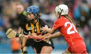 10 September 2017; Meighan Farrell of Kilkenny in action against Lauren Homan of Cork during the Liberty Insurance All-Ireland Senior Camogie Final match between Cork and Kilkenny at Croke Park in Dublin. Photo by Piaras Ó Mídheach/Sportsfile