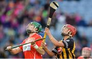 10 September 2017; Hannah Looney of Cork and Grace Walsh of Kilkenny during the Liberty Insurance All-Ireland Senior Camogie Final match between Cork and Kilkenny at Croke Park in Dublin. Photo by Piaras Ó Mídheach/Sportsfile