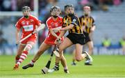 10 September 2017; Anna Farrell of Kilkenny in action against Amy O'Connor of Cork during the Liberty Insurance All-Ireland Senior Camogie Final match between Cork and Kilkenny at Croke Park in Dublin. Photo by Piaras Ó Mídheach/Sportsfile