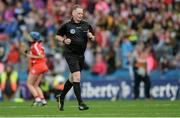10 September 2017; Referee Owen Elliott during the Liberty Insurance All-Ireland Senior Camogie Final match between Cork and Kilkenny at Croke Park in Dublin. Photo by Piaras Ó Mídheach/Sportsfile