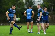 11 September 2017; Leinster's Cian Healy, left, and Rory O'Loughlin during squad training at UCD in Dublin. Photo by Ramsey Cardy/Sportsfile