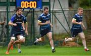 11 September 2017; Leinster's Caelan Doris, left, Fergus McFadden, centre, and James Tracy during squad training at UCD in Dublin. Photo by Ramsey Cardy/Sportsfile