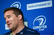 11 September 2017; Leinster scrum coach John Fogarty during a press conference in Leinster Rugby Headquarters in Dublin. Photo by Ramsey Cardy/Sportsfile