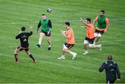 11 September 2017; Rory Scannell of Munster in action against team-mates Bill Johnston, Sean McCarthy, Peter O'Mahony and Jean Kleyn during Munster Rugby squad training at the University of Limerick in Limerick. Photo by Diarmuid Greene/Sportsfile