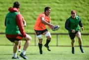 11 September 2017; CJ Stander of Munster gets away from Tyler Bleyendaal during Munster Rugby squad training at the University of Limerick in Limerick. Photo by Diarmuid Greene/Sportsfile