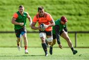 11 September 2017; CJ Stander of Munster gets away from Andrew Conway and Tyler Bleyendaal during Munster Rugby squad training at the University of Limerick in Limerick. Photo by Diarmuid Greene/Sportsfile