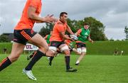 11 September 2017; CJ Stander of Munster in action against Jack O'Donoghue during Munster Rugby squad training at the University of Limerick in Limerick. Photo by Diarmuid Greene/Sportsfile