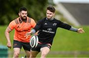 11 September 2017; Bill Johnston of Munster supported by team-mate Kevin O'Byrne during Munster Rugby squad training at the University of Limerick in Limerick. Photo by Diarmuid Greene/Sportsfile