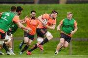 11 September 2017; Tom Ryan of Munster supported by team-mate during Munster Rugby squad training at the University of Limerick in Limerick. Photo by Diarmuid Greene/Sportsfile