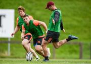 11 September 2017; Tyler Bleyendaal of Munster during Munster Rugby squad training at the University of Limerick in Limerick. Photo by Diarmuid Greene/Sportsfile