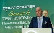 12 September 2017; Mick Culhane, Chairman, Colm 'Gooch' Cooper Testimonial at the Colm Cooper Testimonial Dinner launch at Zurich Insurance in Ballsbridge, Dublin. Photo by Piaras Ó Mídheach/Sportsfile