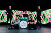 12 September 2017; Le Galaxie were pictured alongside Oisin Masterson, eir's head of brand and marketing, far left, at the launch of the eir Other Voices Open Call 2017, which will make possible the opportunity for one Irish artist to earn a huge coverted performance slot at the IMRO Other Room during the festival.  Transmisson of that performance on RTÉ along with further music career support from eir including all festival expenses, time in a recording studio and budget to create a music video, along with music industry mentoring from the eir Other Voices team. Visit www.othervoices.ie for further information.  Photo by Sam Barnes/Sportsfile