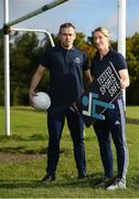 13 September 2017; Former Dublin GAA footballer and Cleanmarine for Men ambassador, Alan Brogan and current Mayo ladies GAA footballer Cora Staunton launch the Tested Sports Safe campaign, raising awareness amongst fellow athletes to look for the Tested Sports Safe® on pack in health food stores and Pharmacies. Athletes can also visit the Tested Sports Safe website to check their product's batch number and view its test results: http://sportssafe.org/safe-batch-checker. Pictured is former Dublin GAA footballer and Cleanmarine for Men ambassador Alan Brogan, left, and current Mayo ladies GAA footballer Cora Staunton, right, at Liffey Gaels GAA, Kilmainham, Ballyfermot, Co Dublin. Photo by Seb Daly/Sportsfile