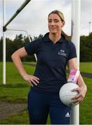 13 September 2017; Former Dublin GAA footballer and Cleanmarine for Men ambassador, Alan Brogan and current Mayo ladies GAA footballer Cora Staunton launch the Tested Sports Safe campaign, raising awareness amongst fellow athletes to look for the Tested Sports Safe® on pack in health food stores and Pharmacies. Athletes can also visit the Tested Sports Safe website to check their product's batch number and view its test results: http://sportssafe.org/safe-batch-checker. Pictured is current Mayo ladies GAA footballer Cora Staunton, at Liffey Gaels GAA, Kilmainham, Ballyfermot, Co Dublin. Photo by Seb Daly/Sportsfile