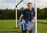 13 September 2017; Former Dublin GAA footballer and Cleanmarine for Men ambassador, Alan Brogan and current Mayo ladies GAA footballer Cora Staunton launch the Tested Sports Safe campaign, raising awareness amongst fellow athletes to look for the Tested Sports Safe® on pack in health food stores and Pharmacies. Athletes can also visit the Tested Sports Safe website to check their product's batch number and view its test results: http://sportssafe.org/safe-batch-checker. Pictured is former Dublin GAA footballer and Cleanmarine for Men ambassador Alan Brogan, at Liffey Gaels GAA, Kilmainham, Ballyfermot, Co Dublin. Photo by Seb Daly/Sportsfile