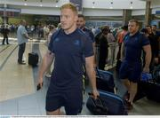 13 September 2017; James Tracy of Leinster pictured during the squad's arrival at OR Tambo Airport in Johannesburg, South Africa. Photo by Sydney Seshibedi/Sportsfile