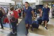 13 September 2017; Adam Byrne of Leinster pictured during the squad's arrival at OR Tambo Airport in Johannesburg, South Africa. Photo by Sydney Seshibedi/Sportsfile