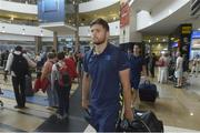 13 September 2017; Ross Byrne of Leinster pictured during the squad's arrival at OR Tambo Airport in Johannesburg, South Africa. Photo by Sydney Seshibedi/Sportsfile