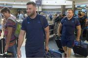13 September 2017; Fergus McFadden, left, and Sean Cronin of Leinster pictured during the squad's arrival at OR Tambo Airport in Johannesburg, South Africa. Photo by Sydney Seshibedi/Sportsfile