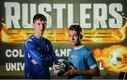 13 September 2017; John Martin, left, of Waterford IT and Darragh Markey of Maynooth University in attendance during the Rustlers FAI Colleges and Universities launch at the FAI HQ in Abbotstown, Dublin. Photo by Cody Glenn/Sportsfile